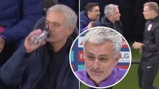 Jose Mourinho Reacts To His Hilarious Touchline Antics Vs Manchester City