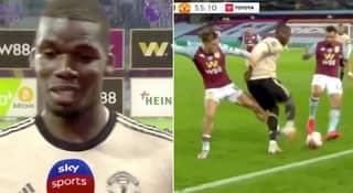 Paul Pogba Shows Off Incredible Skill Moves Against Aston Villa