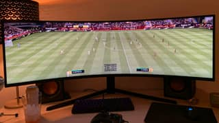 Teenager Builds The Ultimate FIFA Setup Using 49-Inch Monitor So He Can See Entire Pitch