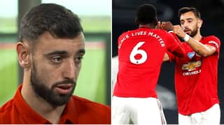 "Bruno Fernandes Says He Speaks Italian To Paul Pogba ""Most Of The Time"" As They Build Midfield Partnership"