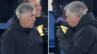 Carlo Ancelotti's Reaction To Everton Going 5-4 Up Is The Coolest 'Celebration' You'll Ever See