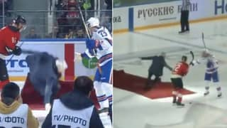 Jose Mourinho's Special Guest Appearance At Ice Hockey Game Goes Horribly Wrong