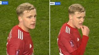 The Moment Donny Van De Beek Realised He Was Coming Off Was Hearbreaking