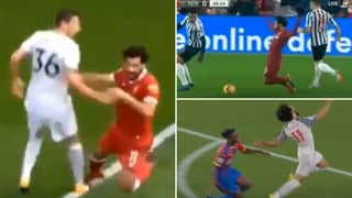 Compilation Of 'Career-Ending Challenges' On Mohamed Salah Exposes His 'Diving'