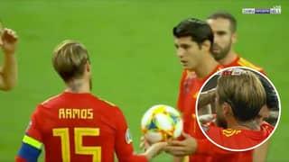 Classy Sergio Ramos Gave His Penalty Away To Álvaro Morata During Spain Match