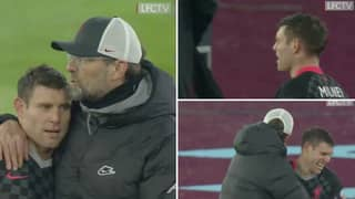 Full Footage Of Jurgen Klopp And James Milner's Hilarious Touchline Exchange Is Even Better