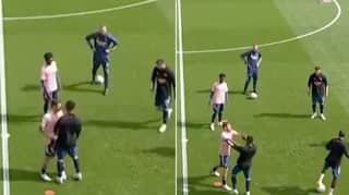 Arsenal Duo Dani Ceballos And Eddie Nketiah Involved In Heated Bust-Up Just Before Kick-Off