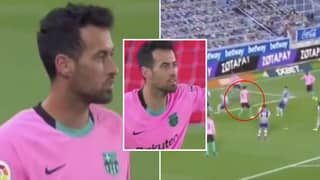 'Highlights' Of Sergio Busquets' Performance For Barcelona Vs Alaves Show He's Sadly On The Decline