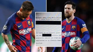 The Transfer Request Lionel Messi Sent To Barcelona Has Been 'Leaked' Online