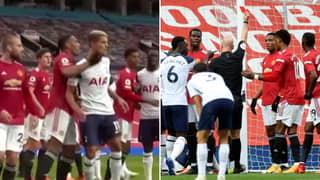 Anthony Martial Sent Off For Violent Conduct Vs Tottenham Hotspur