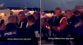 Footage Emerges Of Erling Haaland Being Kicked Out Of Norway Nightclub