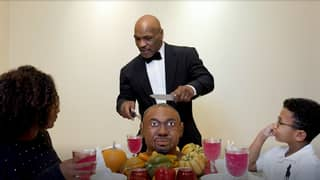 Mike Tyson 'Eats Roy Jones Jr's Head' In Bizarre Thanksgiving Video