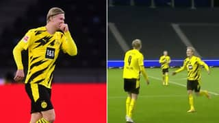 Erling Haaland Scores Sensational 15-Minute Hat-Trick Vs Hertha Berlin