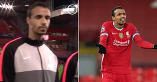 Fans Love Joel Matip's Miserable Face During Champions League Anthem