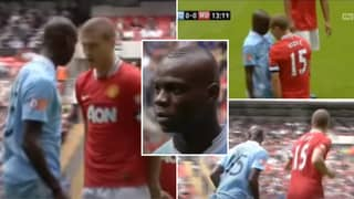Mario Balotelli Looked Absolutely Terrified Of Nemanja Vidic After Squaring Up To Him