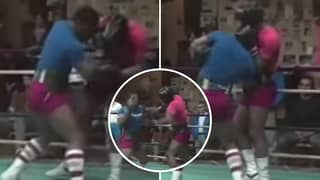 16-Year-Old Mike Tyson Pushed Pro Boxer Jimmy Clark To The Limit In Sparring Footage