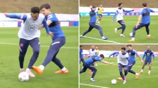 Footage Of Trent Alexander-Arnold Embarrassing Harry Maguire And Declan Rice In Training Goes Viral