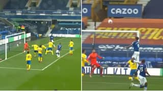 Dominic Calvert-Lewin Scores Stunning Climbing Header For Everton Against Brighton
