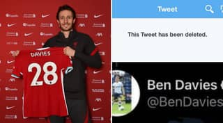 Ben Davies 'Forced To Delete Embarrassing Tweet' Ahead Of Signing For Liverpool