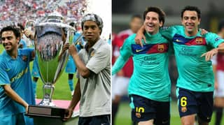 Xavi Says Ronaldinho Belongs Alongside Cristiano Ronaldo In The Tier Below Lionel Messi
