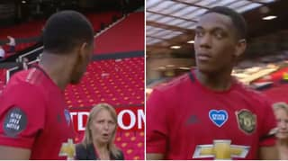 Anthony Martial's Hilarious Reaction At The Final Whistle After Scoring Hat-Trick For Manchester United