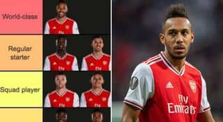Tier List Of Arsenal's Squad Ranked From World-Class And Below Goes Viral