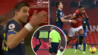 Footage Emerges Of Jan Bednarek's Reaction After Anthony Martial Penalty Decision In Man United's 9-0 Win