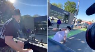 Fans Mock Jake Paul For Water Balloon 'Drive By' Of Dillon Danis
