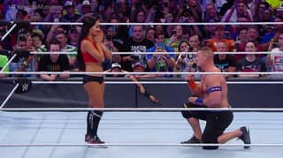 WATCH: John Cena Proposes To Nikki Bella At Wrestlemania