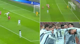 Olivier Giroud Scores Sensational Overhead Kick To Give Chelsea The Lead Vs Atletico Madrid