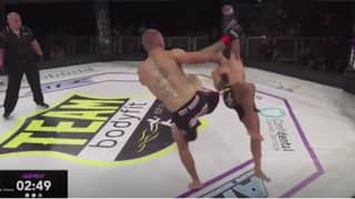 Aussie MMA Fighter Sent Flying Into The Air After Copping Monster Head Kick