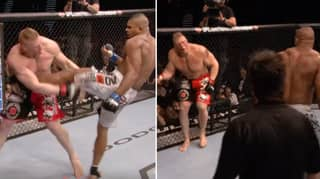 When Alistair Overeem Crushed Brock Lesnar With A Brutal Liver Kick