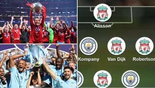 Fans Vote For Combined XI Of Liverpool's Premier League Winners And Manchester City's 'Centurions'