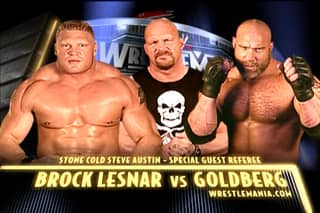Remembering The Steaming Pile Of Shit That Was Brock Lesnar vs Goldberg 1