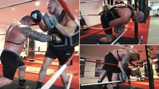 Eddie Hall Made His Trainer Cough Up Blood In Boxing Training