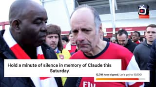 Thousands Sign Petition To Hold Minute Silence In Memory Of Claude Callegari Before Arsenal vs Liverpool