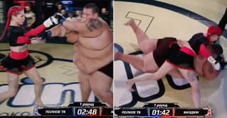 Weirdest Ever MMA Fight Sees Female Bantamweight KO 529-Pound Man