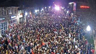 Worrying Scenes As Thousands Of College Football Fans Gather To Celebrate Alabama's Championship Win