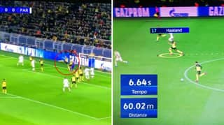 Erling Haaland Ran 60m In World Championship Time During PSG Game