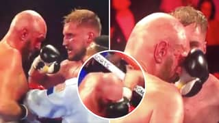 Otto Wallin Called A 'Cheat' By Outraged Fans After Raking Tyson Fury's Cut After The Bell