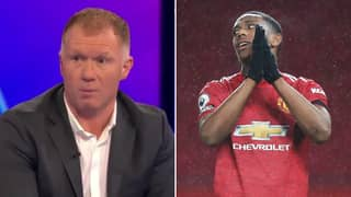 Paul Scholes Thinks Anthony Martial Is 'Not A Good Centre Forward' For Manchester United