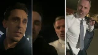 Gary Neville And Jamie Carragher Hilariously Continue England Squad Discussion In Sky Sports Car Park
