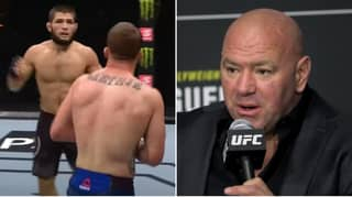 Dana White Reveals What Khabib Said To Justin Gaethje During Their Fight At UFC 254