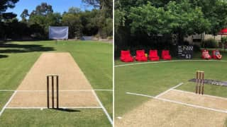 Man Transforms His Back Garden Into A Cricket Pitch And It's Actually The Dream