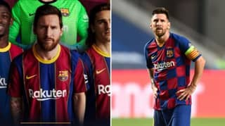 Barcelona Use Lionel Messi On Advert For The New Kit