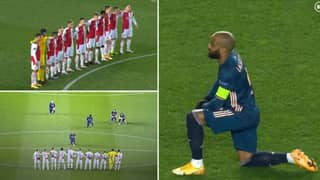 Alexandre Lacazette Stared Out Slavia Prague Players While Taking The Knee Ahead Of Europa League Game
