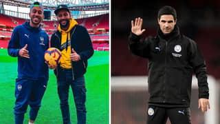 Pierre-Emerick Aubameyang's Brother Slams Arsenal For Mikel Arteta Interest