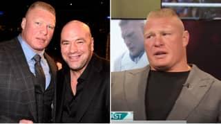 "Brock Lesnar's Angry Response To UFC Boss Dana White Calling WWE ""Fake"""