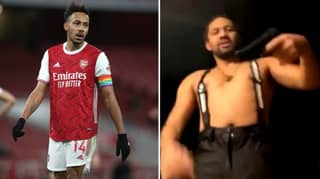 Pierre-Emerick Aubameyang's Brother Fires Cap Gun On Instagram Live With Arsenal Forward