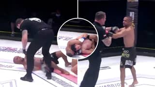 MMA Fighter Tries To Fight Referee After Refusing To Release Rear Naked Choke